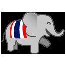 Thailand Travel by DiscoveryThailand.com (mobile application) Logo Mark